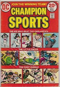 CHAMPION SPORTS #1 NOV DC COMIC BOOK 1973