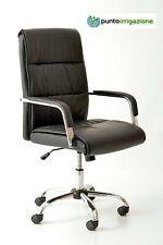 Poltrona sedia ufficio presidenziale elegante di lusso Graciana nera