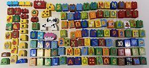 Lego Duplo Large Bundle 136 x Logo Bricks Some Vintage Alphabet Numbers Animals