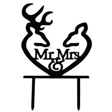 Creative Mr and Mrs Personalized Wedding Cake Toppers Deer Cake Topper for I9P8