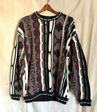 NOS Korean COOGI Textured Knit Sweater Crewneck 90s Vintage Mens Lg