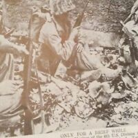 m12d ephemera 1940s ww2 picture naha u s 6th marine division okinawa take cover