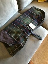 Barbour Wool Touch Dog Coat Classic Tartan Green Jacket Size XXL Brand New