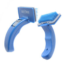 Pet Grooming Self Cleaning Shedding Fur Slicker Brush Dog Cat Grooming Trimmer