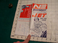 Vintage brochure: NORTHEAST timetable effective 2-1-1960, 16 pgs, some creasing