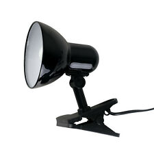 Modern Gloss Black Metal Clip On Spotlight Table Desk Lamp Task Light Lighting