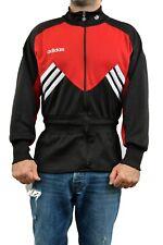 Adidas Vintage 80s Tracksuit Top Jacket Red Black White Sport D6 L Shiny RARE