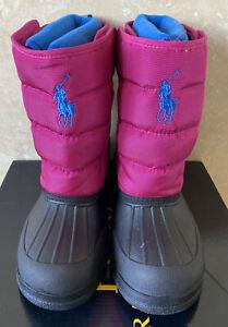 Authentic Ralph Lauren Pink Snow Boots Size UK 2.5
