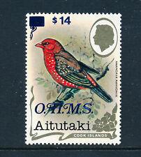 AITUTAKI 1985-90 DEFINITIVES O.H.M.S. SG O36 $14 MNH