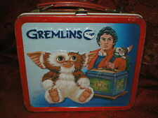 Collectible  Vintage 1984 Aladdin Gremlins metal lunchbox lunch box