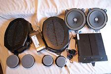 BMW E46 Harman Kardon Speaker Set w. Amp, Grey Grills 1999-2006 325I 330I 330XI