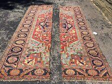 New listing Antique Oriental Rug - Heriz 6x11 - Red - cut - handmade - wool