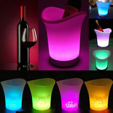 LED Ice Bucket Colour Changing Champagne Wine Beer Drink Cooler Home Retro Party