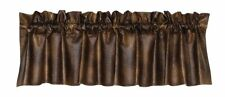 HiEnd Accents Rustic Faux Leather Valance, New, Free Shipping