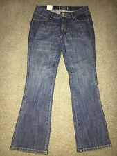 Women's Wrangler Ultra Low Rise Painted Gold Jeans 7/8 X 34 NWT