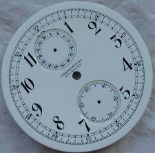 Chronometro Escasany Chronograph Pocket Watch enamel dial 49 mm. in diameter