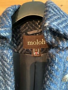 Moloh Tailcoat Size 10 Navy & Grey REDUCED PRICE