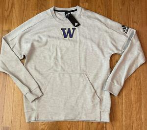 Men's Washington Huskies adidas Stadium Pullover Sweatshirt Large NWT $70