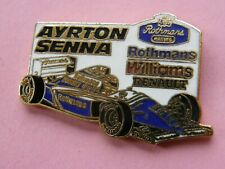 pin's WILLIAMS RENAULT  AYRTON SENNA -  signé MFS , automobile , rothmans
