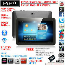 """Pipo Max M9 10.1"""" Quad Core Rk3188 1.8 ghz 32gb 2gb Ram Android 4.2 Tablet Pc"""