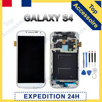 VITRE TACTILE + ECRAN LCD SUR CHASSIS SAMSUNG GALAXY S4 i9505 BLANC + OUTILS