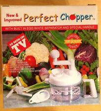 PERFECT CHOPPER Hand Food Processor with Samurai Blade - NIB with Recipe Booklet