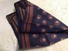 J Crew ANCHOR BORDER Silk Pocket Square//Handkerchief