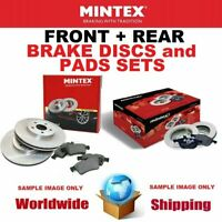 MINTEX FRONT + REAR BRAKE DISCS + PADS SET for VAUXHALL ZAFIRA 1.6 CNG 2011->on
