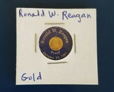 Gold Proof Coin. Ronald W Reagan. 1/2 gram. Fine Gold. Marked 24k