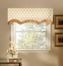 Stylemaster Bleecker 54 by 17-Inch Lined Embroidered Layered Valance, Truffle ,