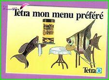 Ancien Autocollant Alimentation Poisson Fish TETRA MON MENU PREFERE Boite
