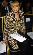 RARE Karen Millen Leopard Pony fausse fourrure Col Manteau RRP £ 350 UK 8 Femmes Cadeau