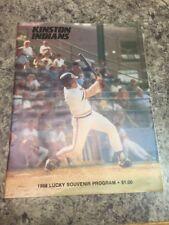 1988 Kinston Indians Program Minor League vs Virginia Generals