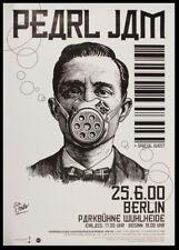 More details for pearl jam concert handbill - rock band - berlin 2000 - reprint