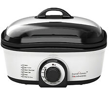 Slow Cooker Oven Casserole Pan Fondue Steamer Boiler Roaster Deep Pot Fat Fryer