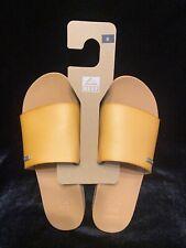 Ladies REEF Cushion Scout Slide Sandal Natural Color Size 8