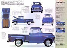 1957 Chevrolet 3100 Stepside Truck Modified 350 ci 330hp 3 Carbs info/spec/photo