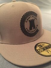 NEW ERA X CROOKS AND CASTLES 59 FIFTY FITTED HAT SZ 7 3/4 IN GREY !!!!