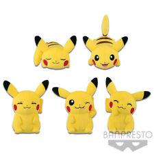 Pokemon Pikachu Mania 12 cm Round Plush set Banpresto (100% authentic)
