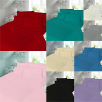 Luxury Flannelette Duvet Cover Bedding Set 100% Brushed Cotton Size : Single