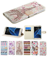 Samsung Galaxy J7 2018 Bling Diamonds Leather Flip Wallet Case Protective Cover