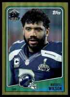 2015 Topps 60th Anniversary Throwback Gold Russell Wilson /150 Seahawks