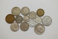 WORLD COINS LOT WITH SILVER B20 ZH7