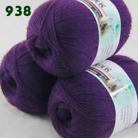 Sale Lot of 3 Balls x50gr LACE Soft Acrylic Wool Cashmere hand knitting Yarn 938