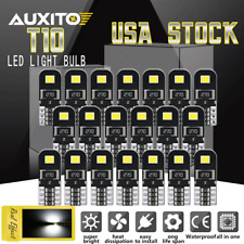 20Pack Interior Dome Map Light Bulb T10 168 2825 194 W5W 6000K CANBUS Error Free
