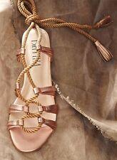 NIB Anthropologie BILLY ELLA Lucerna Gladiator Tie Sandals Shoes Metallic Gold 9