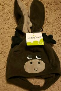 NWT Jumping Beans Baby Moose Hat And Mittens, Size 6-18 Months