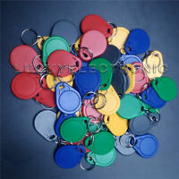 50pcs/bag RFID key fobs 125KHz T5577 tags read and write