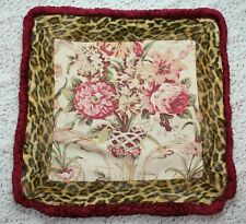 RALPH LAUREN Guinevere Venetian Leopard Floral Linen Throw Pillow Cover 22x22