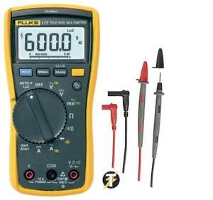 Fluke 117 True Digital Multimeter Volt Alarm Detektor Funktion + Test Kabel